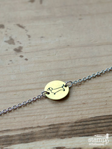 dachshund chain bracelet 1